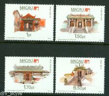 Temples set of 4 stamps mnh Macao Macau 1992 #678-81