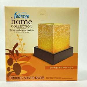 Febreze Home Collection Pomegranate Mango Flameless Luminary Refill Pack New