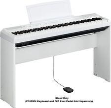 Yamaha L85WH White Wood Stand for P105-WH, P115B, P115WH Digital Piano/Keyboard