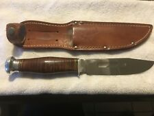 SCHRADE CUT CO FIX BLADE KNIFE AND SHEATH RARE KNIFE. IN NEAR MINT COND.