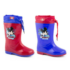 Waterproof Rainboots Rubber Boots Boys' Shoes Micky Mouse 22-32 #G19
