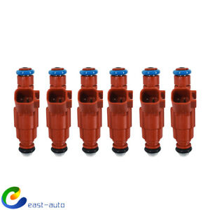New 6Pcs 12-hole Fuel Injector Set Fit For Jeep Wrangler Ford 0280156161 US