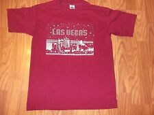 vtg t shirt Las Vegas stamped twinkling stars maroon Usa made size Xl slim fit