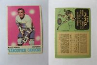 1970-71 OPC O-Pee-Chee #122 Popiel Paul pen mark   canucks