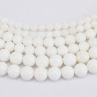 15'' Natural White Tridacna Gemstone Stone Spacer Loose Beads Findings 4-10MM