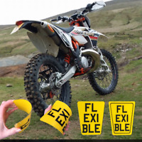 FLEXIBLE Small TAPERED KIDS TOY NOVELTY OFF ROAD NUMBER PLATE KTM ENDURO STYLE