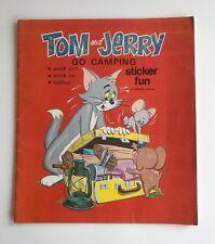 TOM & JERRY Sticker Book - 1973 ottime condizioni & adesivi non sono stati utilizzati