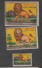 Ancienne étiquette   allumettes Inde  GH200 Lion