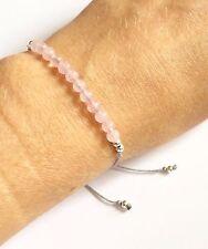 Just Gemstones Rose Quartz Yoga Balance Reki Bracelet