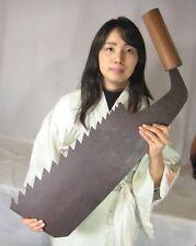 ANTIQUE SIGNED JAPANESE TOOL FORGED IRON MAEBIKI NOKOGIRI WHALEBACK SAW