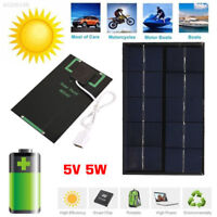 5W 5V Polysilicon USB Port Portable USB Solar Panel Outdoor Mobile Phone Travel