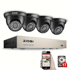 ZOSI 1TB 8CH 1080N 1500TVL Home CCTV Security Camera System Surveillance + Gift