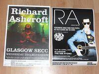 Richard Ashcroft - Scottish tour Glasgow live music show concert gig posters x 2