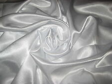 "PURE WHITE 100% POLYESTER BACK CREPE SATIN FABRIC 58"" WIDE BY THE YARD"