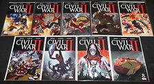 Marvel CIVIL WAR II #0-8 - 9pc Count Mid-High Grade Comic Lot VF-NM Avengers