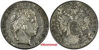 Austria Ferdinand I Silver 1844-A 3 Kreuzer UNC Condition KM# 2191