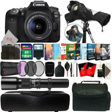 Canon EOS 90D 32.5MP DSLR Camera + 18-55mm & 500mm Lens Accessory Kit
