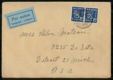 Mayfairstamps Finland Commercial 1940s Cover Air Mail Pair wwk40897