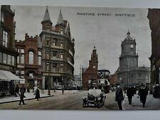1920s Vintage Postcard. Pinstone Street, Sheffield, Yorkshire.