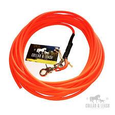 Guinzaglio per cani da traccia Lunghina 12m tondo BIOTHANE arancione neon 6mm