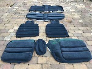 Chevy Caprice 9 Piece Front & Rear Seat Cover Cloth Set Dark Blue Corduroy NEW!