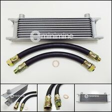 Classic Mini Oil Cooler 10 Row Kit INCLUDING RUBBER Hoses austin car pipes