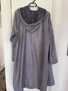Mycra Pac One Raincoat Womens M/L Grey Gold Snakeskin Hood Jacket Reversible