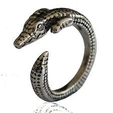 Crocodile Rings - Silver - Adjustable (R28)