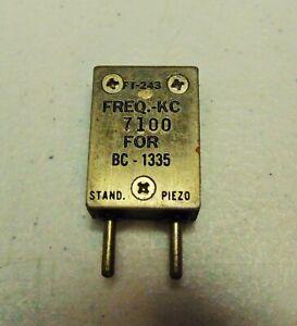 7100 KC 40 meter Ham Radio  FT-243 Vintage Quartz Crystal for Military BC-1335
