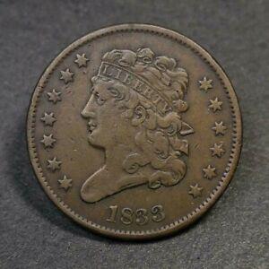 1833 Classic Head Half Cent VF