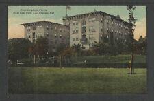 1910s HOTEL LEIGHTON FACING WEST LAKE PARK LOS ANGELES CAL POSTCARD
