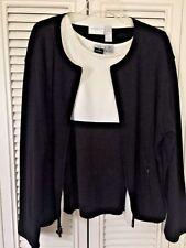 LIZ CLAIBORNE Coat Jacket ++ CIGNAL  Diamond Shirt Top Blouse SET Womens Sz XL :