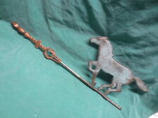vtg/antique Cast Iron Copper Weathervane Arrow w/Running Horse for lightning rod