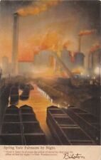 Bilston Nr Wolverhampton Uk Spring Vale Furnaces At Night~Jon Price #46 Postcard