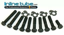 F-1-2 Compatible with 1969-74 GTO Judge Firebird Ram Air 3 4 HO Factory Exhaust Manifold Bolts /& Locks Inline Tube