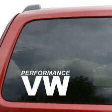 "VW Performance JDM Car Window Decor Vinyl Decal Sticker- 6"" Wide White"