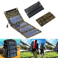 Foldable Solar Panel Battery Charger Power Bank USB Port Emergency For Outdoor