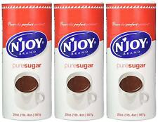 N'Joy Pure Cane Sugar 20 oz Canisters Cans - 3 pack