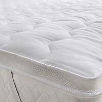 Luxury Microfiber Mattress Topper Hotel Quality Ultra Soft Top Air Flow Mattress