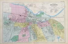 READING - Original Antique Map / City Plan - BACON, 1912
