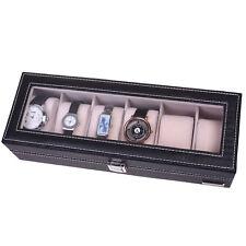 6-Slot PU Leather Watch Box/ Watch Case/ Jewelry Box Jewelry Display Storage Box