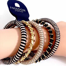 TOPSHOP SET MULTIPACK WIRED PLAITED COMBINED BANGLES BRACELETS NEW