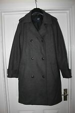 Mens Grey Gap Coat Size M Smart Wool Blend Jacket