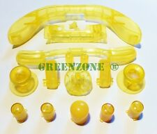 Clear Yellow Xbox 360 Replacement Controller Buttons inc ABXY, Thumbs & D Pad