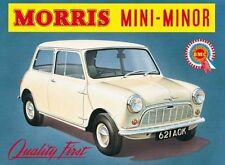 Morris Mini Minor embossed metal sign from the UK