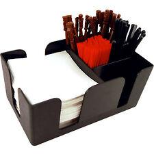 Bar Caddy Organizer Accessories Kit - Incl. Stir Sticks Cocktail Straws Napkins