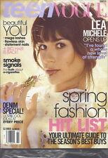 Lea Michele Teen Vogue Magazine Mar 2014 Glee Spring Fashion E-cigarette Truth