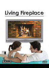 Living Fireplace DVD New 90 Minutes 9 Scenescapes Loop Region 1 New