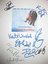 Eternal Sunshine of the Spotless Mind Signed Script Jim Carrey Winslet reprint
