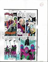 1988 Buscema Avengers 296 Marvel original color guide art page 20: She-Hulk/Thor